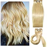 Myfashionhair Clip in Hair Extensions Real Human Hair Extensions 18 inches 70g Clip on for Fine Hair Full Head 7 pieces Silky Straight Weft Remy Hair