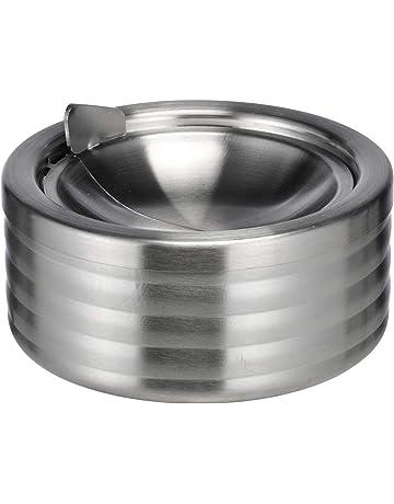 10,5 cm Metall-Aschenbecher Aschen-Becher Ascher Sturmaschenbecher rund Ø ca