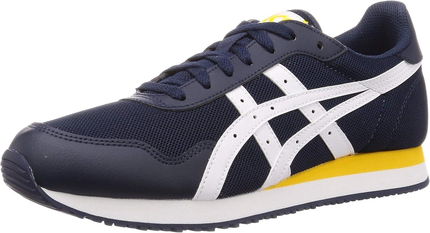 Asics Tiger Runner, Zapatillas para Correr para Hombre, la Medianoche/Blanco, 40.5 EU: Amazon.es: Zapatos y complementos