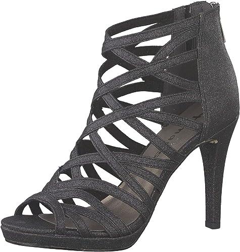 Tamaris 1 1 28014 22 Damen Sandaletten,Sandaletten,Sommerschuhe,offene Absatzschuhe,hoher Absatz,feminin
