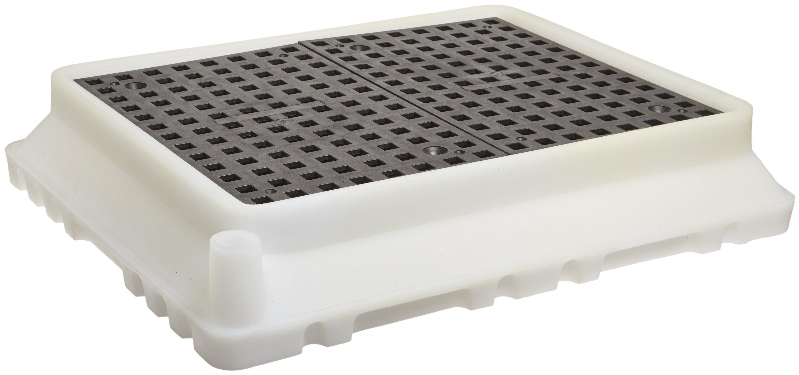 UltraTech 1061 Polyethylene Ultra-Spill Tray P4, 2.9 Gallon Capacity, 5 Year Warranty, White