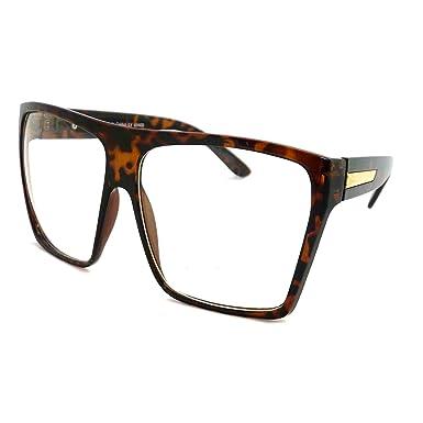 Amazon.com: RETRO Super Oversized Square Frame Clear Lens Eye ...