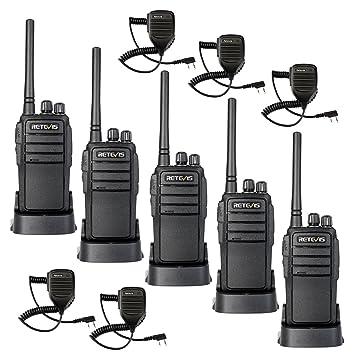 Retevis RT21 Walkie Talkie con Microphone 2W 16 Canales ...