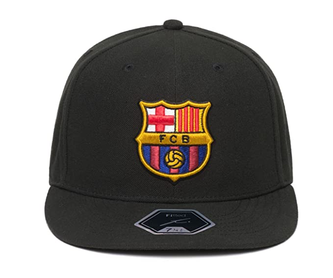 Amazon.com   Fi Collection FC Barcelona Officially Licensed Fitted Dawn Cap  (7 (55.8cm))   Sports   Outdoors 3dc90e2d3a0