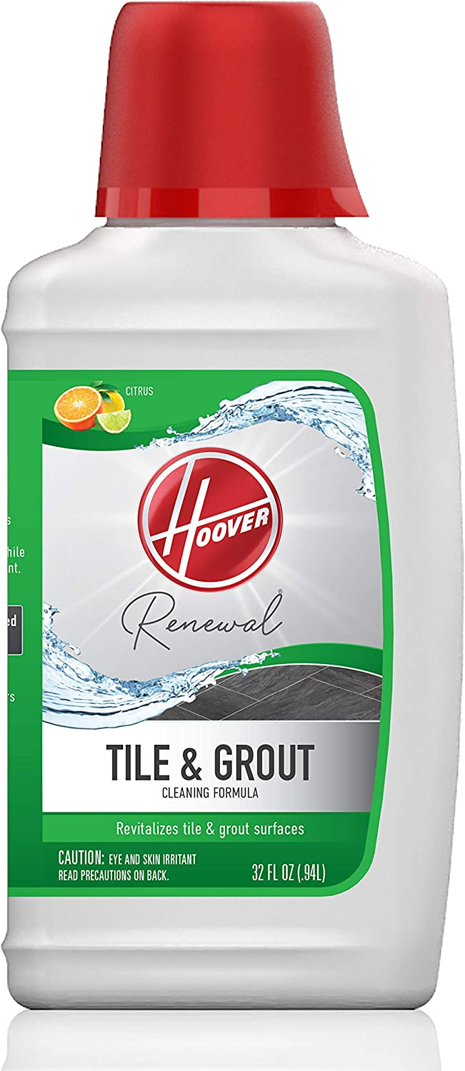 Hoover Renewal Tile and Grout Floor Cleaner, Concentrated Cleaning Solution for FloorMate Machines, 32oz Formula, AH30433, White