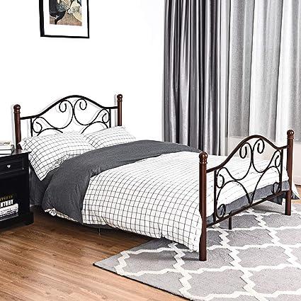 Amazon Com Kchex Full Size Steel Bed Frame Platform Stable Metal