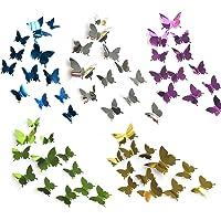 60 piezas de bricolaje mariposa espejo combinación 3D mariposa pegatinas de pared pegatinas de pared decoración del…