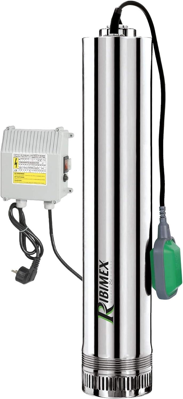 Ribimex 07366 - Bomba eléctrica sumergible de acero inoxidable