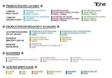 Tahe Nutritium Organic Care Mascarilla de Nutrición/Mascarilla de Pelo Nutritiva para Cabello Fino y Seco, 75 ml: Amazon.es: Belleza