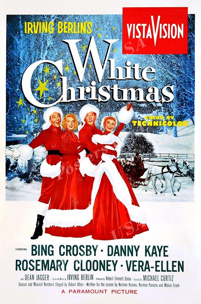 "Posters USA White Christmas Movie Poster GLOSSY FINISH - FIL731 (24"" x 36"" (61cm x 91.5cm))"