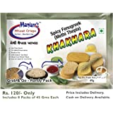 Maniarrs Methi Thepla Khakhra - 8 Packs (Single Flavor) 360 Grams