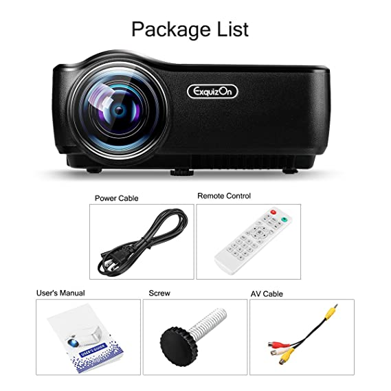 exquizon GP60 TFT-LCD HD portátil Proyector de cine en casa Pico ...