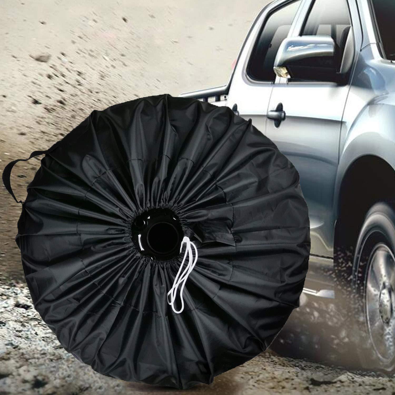 Copri Gomme 4 PZ 65CM Custodia per Pneumatici Auto Antipolvere Impermeabile Anti-UV per 13-19 Pollici Pneumatico Auto SUV Minibus Camper Camion Rimorchio Vococal Custodia Ruota di Scorta