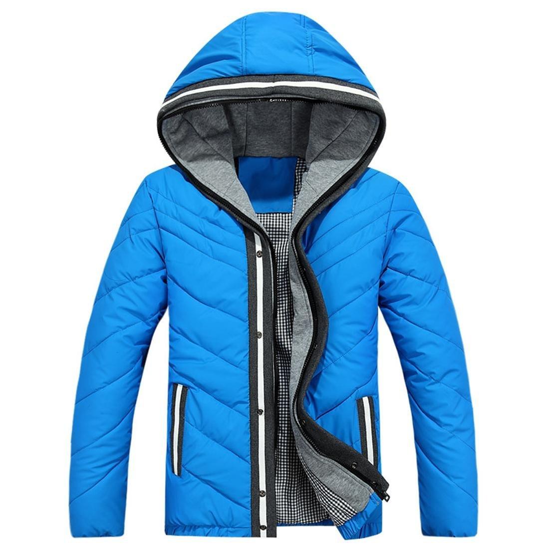 Jeansian Mens fashion lightweight warm hoodie down jacket S M L XL LSD3669