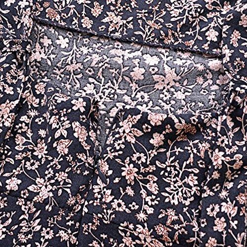 Fleurie Mini Nue Dos Bleu Vacance Imprim Casual Court Robe Manche de Floral Robe Femme Semen Printemps Bohme Vintage Plage Et 8wxRFBp