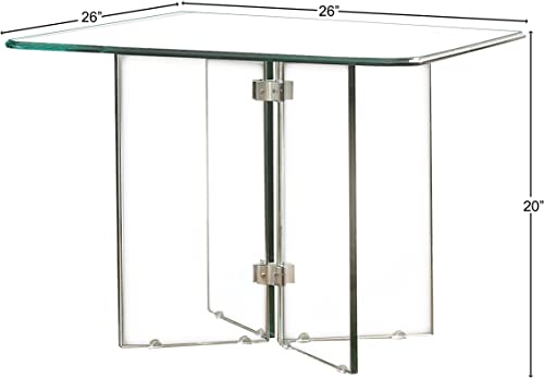 "Homelegance Alouette 26"" All Glass Square End Table"