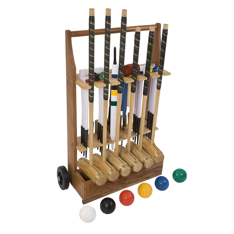 Extrem hochwertiges Pro Croquet Krocket Set f/ür Fortgeschrittene 4 Spieler