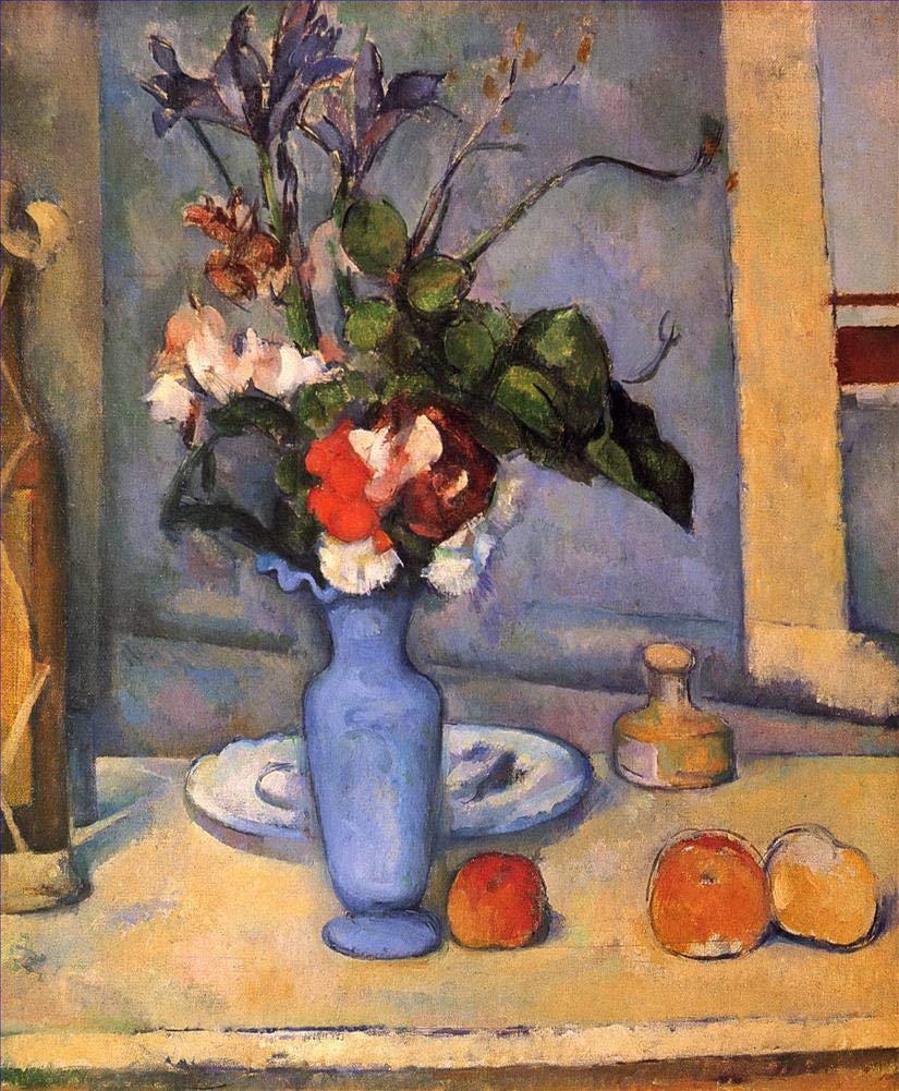 手描き-キャンバスの油絵 - The Blue Vase ポールセザンヌ 芸術 作品 洋画 ウォールアートデコレーション -サイズ11 B07HLHXV7N  36 x 48 インチ