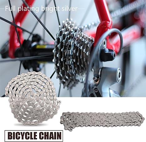 Vbestlife Cadena de Bicicleta 8 9 10 velocidades Cadena 116 ...