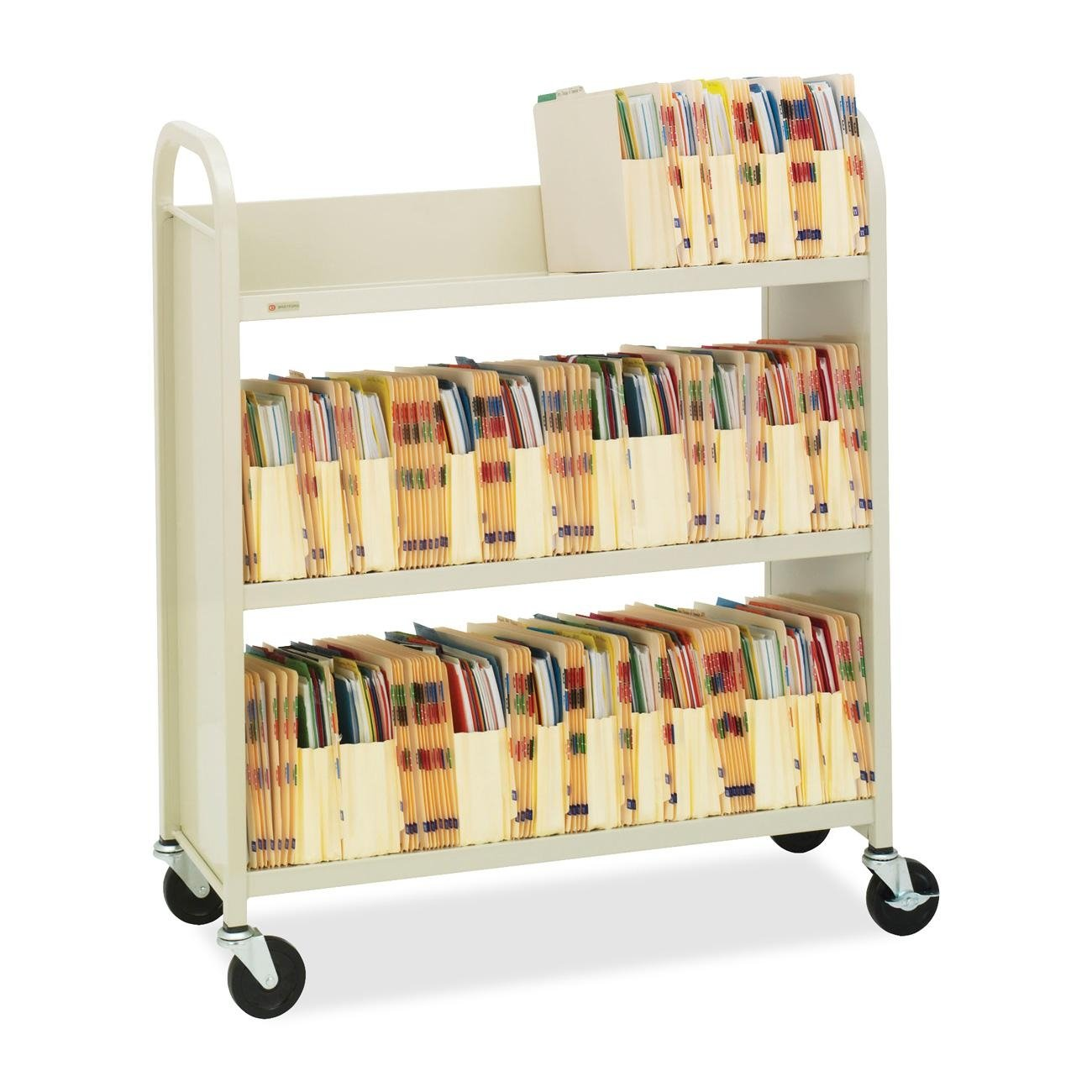 BREL330 – Bretford Steel Slant Shelf Single-Sided Book Cart Stand