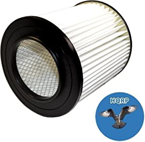 """HQRP 7"""" Filter for Dirt Devil Pro 390, 590, 690, 890, 990, Platinum Force 299e H-P Central Vacuum Systems, 8106-01 Replacement Coaster"""