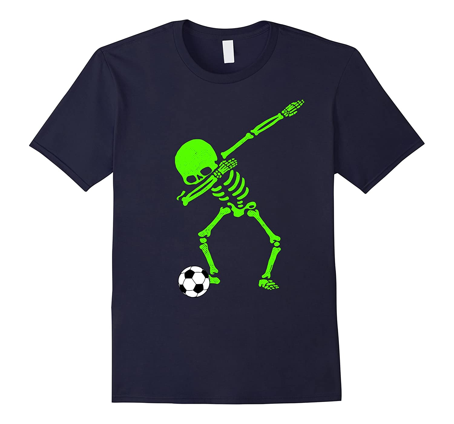 Halloween Dabbing Skeleton Soccer Ball T-Shirt Skeleton GLOW-FL