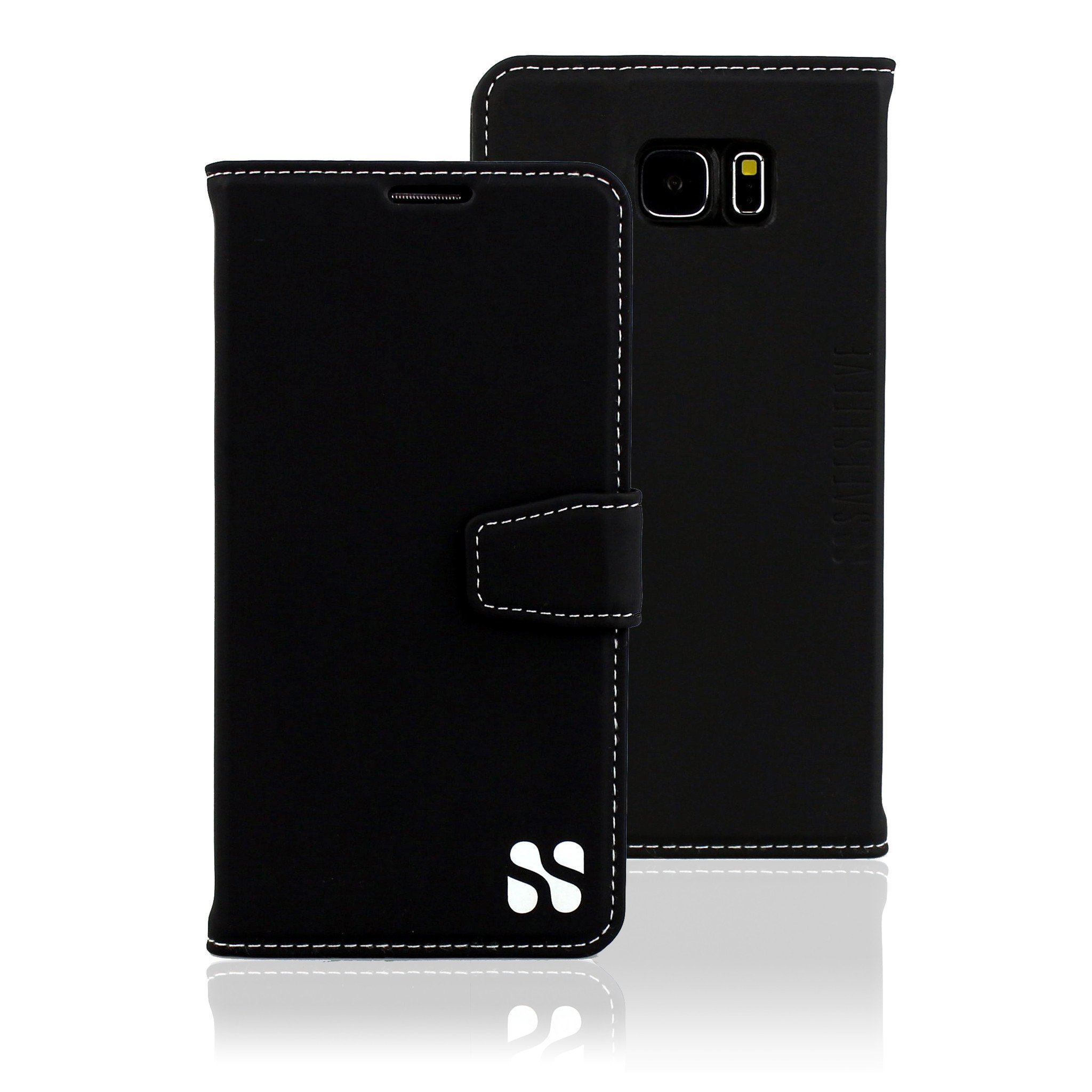 Galaxy S7 Cell Phone Radiation Blocker and RFID Wallet Case by SafeSleeve (Black)