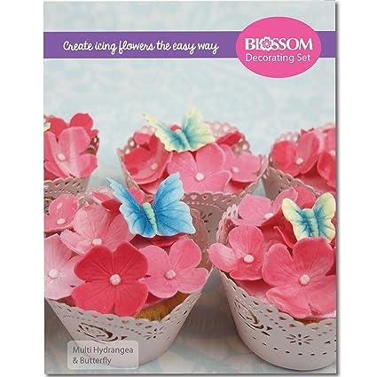Multi de flores y mariposas para decoración de tartas - cortadores de silicona moldes y veteada