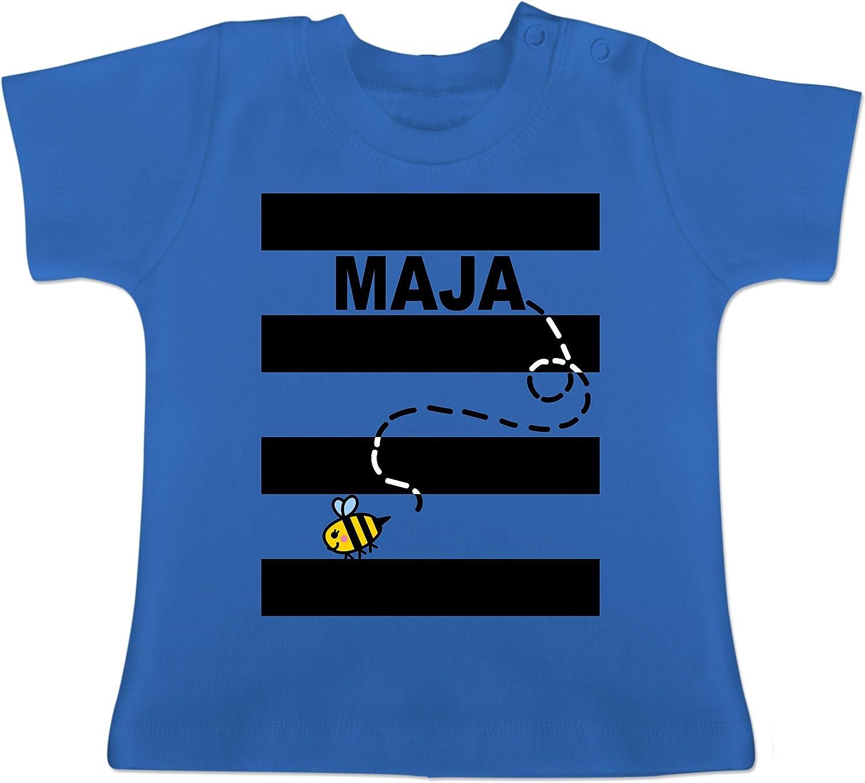 Karneval und Fasching Baby Baby T-Shirt Kurzarm Bienen Kost/üm Maja