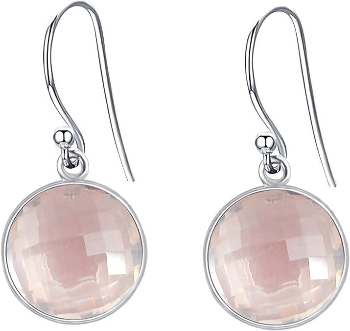 Orchid Jewelry Femmes Boucle DOreille Quartz Quartz Citron Argent Sterling 925 Am/éthyste