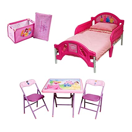 Amazon.com: Disney Princess Room In A Box with Foldable Table and ...