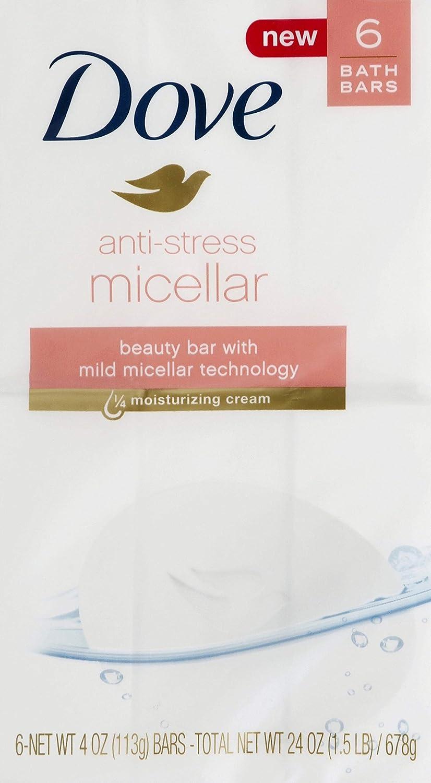 Dove Micellar 6 Piece Anti-Stress Beauty Bar, 24 Oz