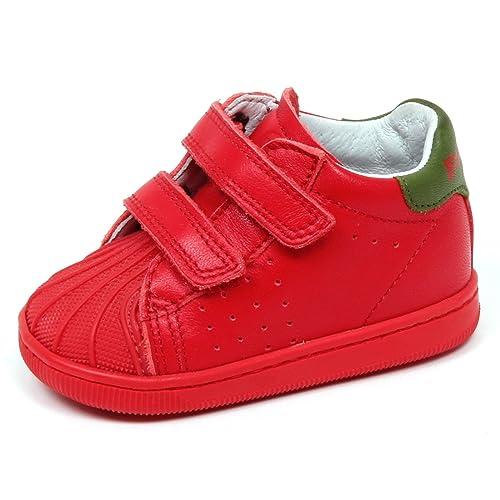 Falcotto E3354 Sneaker Bimbo Rosso Scarpe Primi Passi Shoe Kid Baby Boy   19   Amazon.it  Scarpe e borse d69a0a08194