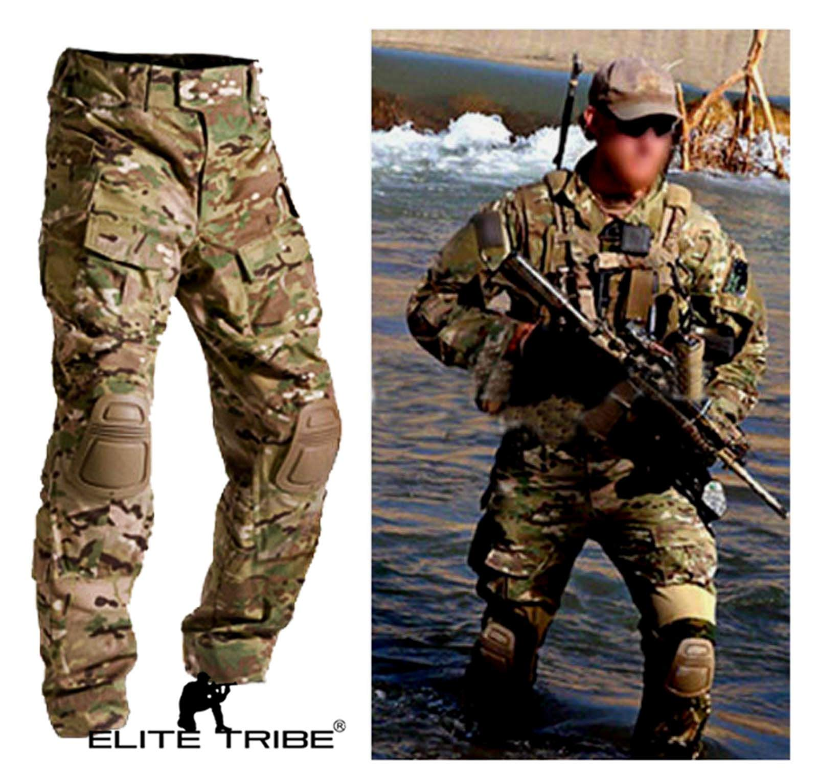 Men Military Army Tactical Series Airsoft Paintball Hunting Uniform Combat BDU Pants Multicam Size S,M,L,XL,XXL (S) by Paintball Equipment