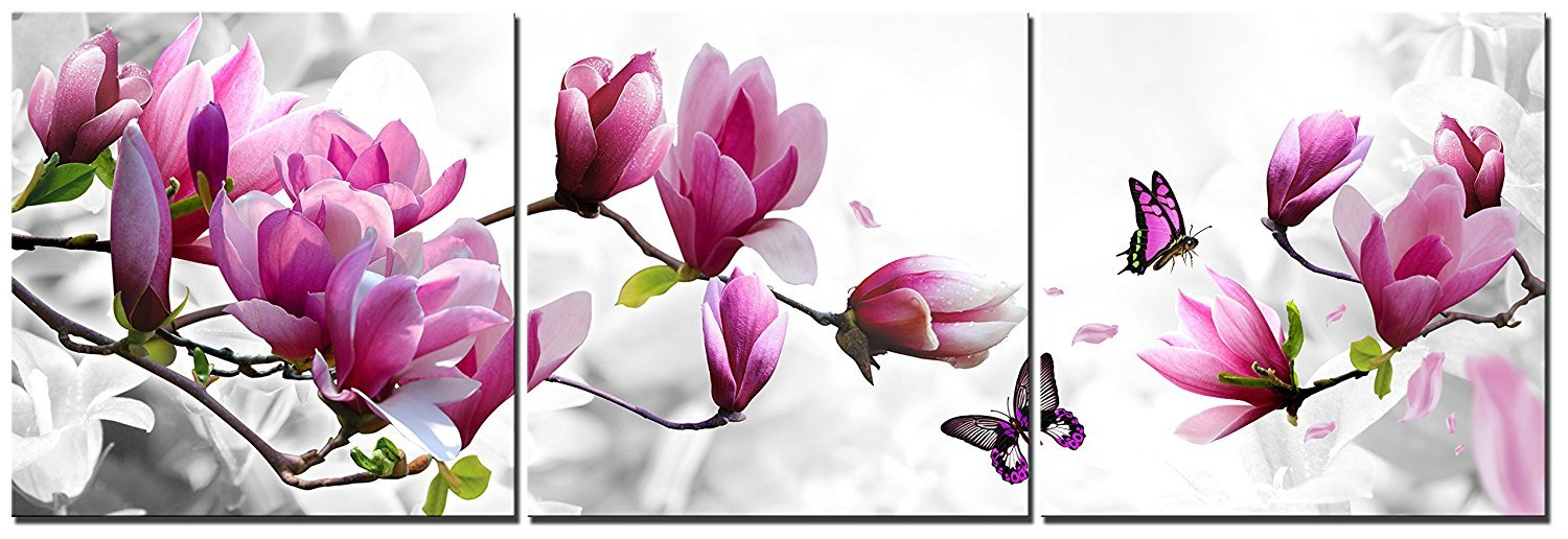 Natural art –Vase with Flower Wall Painting Canvas Prints Home Decoration Wooden Frame 3pcs/set (12×12in×3pcs) CAP81701