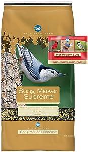 BLUE SEAL Song Maker Supreme Bird Seed & Hot Pepper Suet Cake Bundle