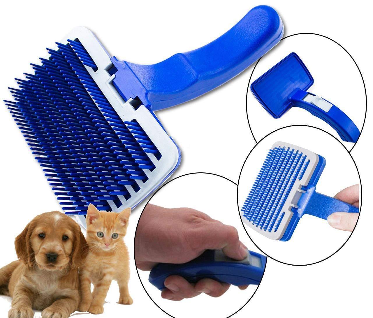 Generic pelliccia Care Dog Puppy Grooming pelliccia di coniglio Pet Hair Brush Care Pet capelli BR gattino gatto D auto pulizia spazzola di pulizia auto pettine governare pelliccia di coniglio