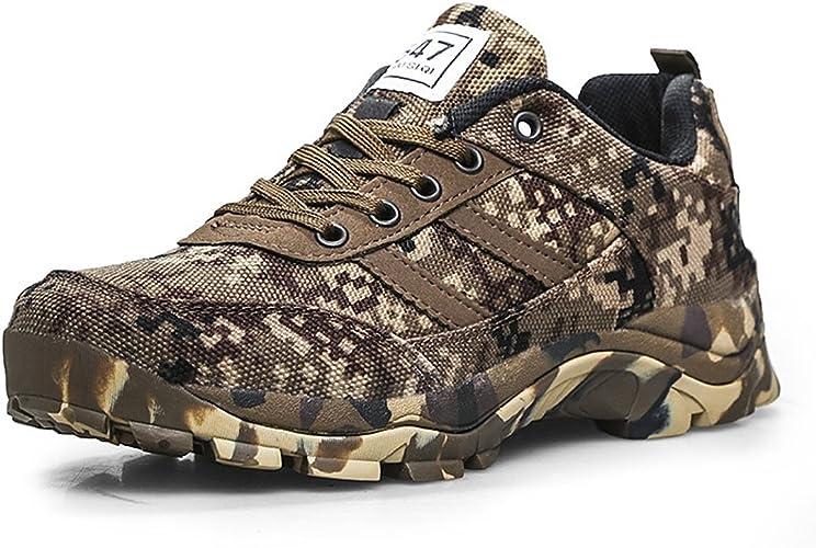 CHNHIRA Homme Chaussure D'Armée Camouflage Chaussure de Course Randonnée en Plein Air Plate Forme Chaussures