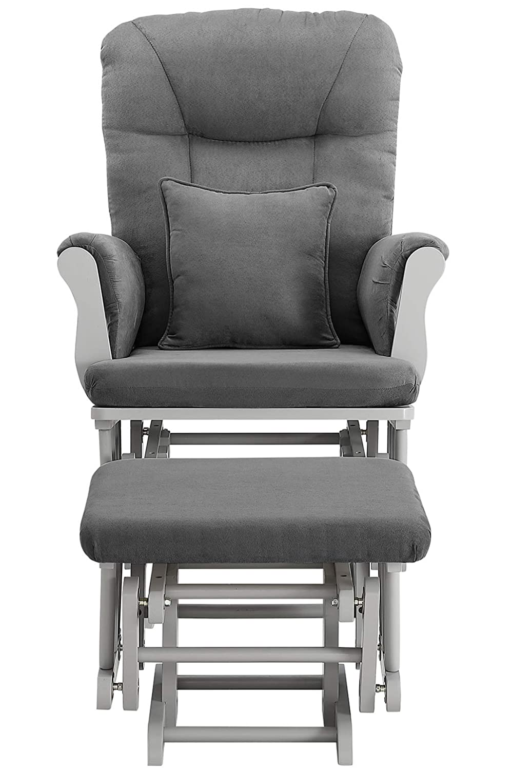 Angel Line Monterey Ii Glider Ottoman, Gray with Dark Gray Cushion