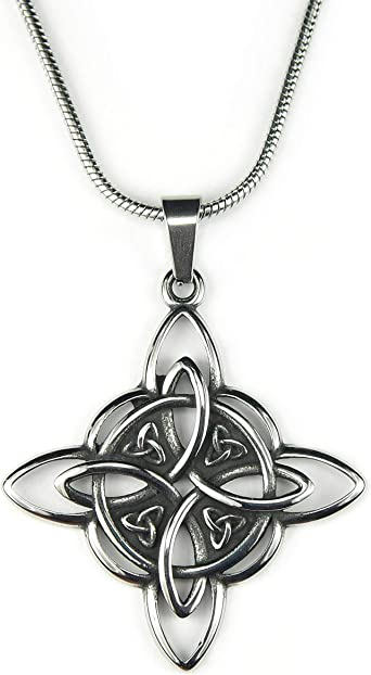 Celtic Witch Wiccan Jewelry Triquetra Witches Knot Necklace