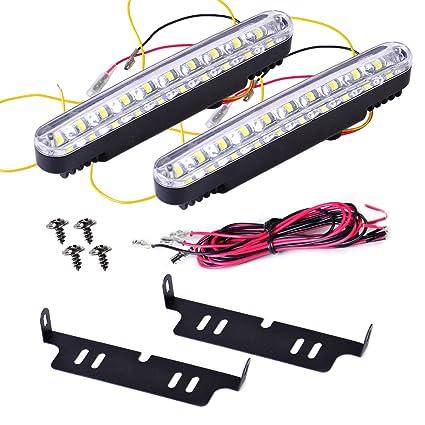 Beler 2pcs 12 V coche 30 LED luz diurna luz blanca DRL Señal de ...