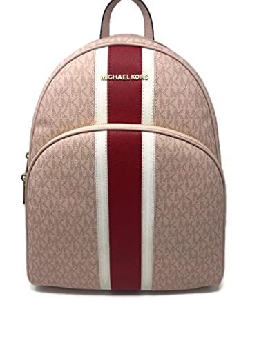 1f3849b4e28 MICHAEL Michael Kors Abbey Large Signature Backpack Ballet Red