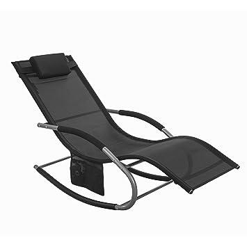 Chaise longue Swing balançoire bain de soleil, transat ...