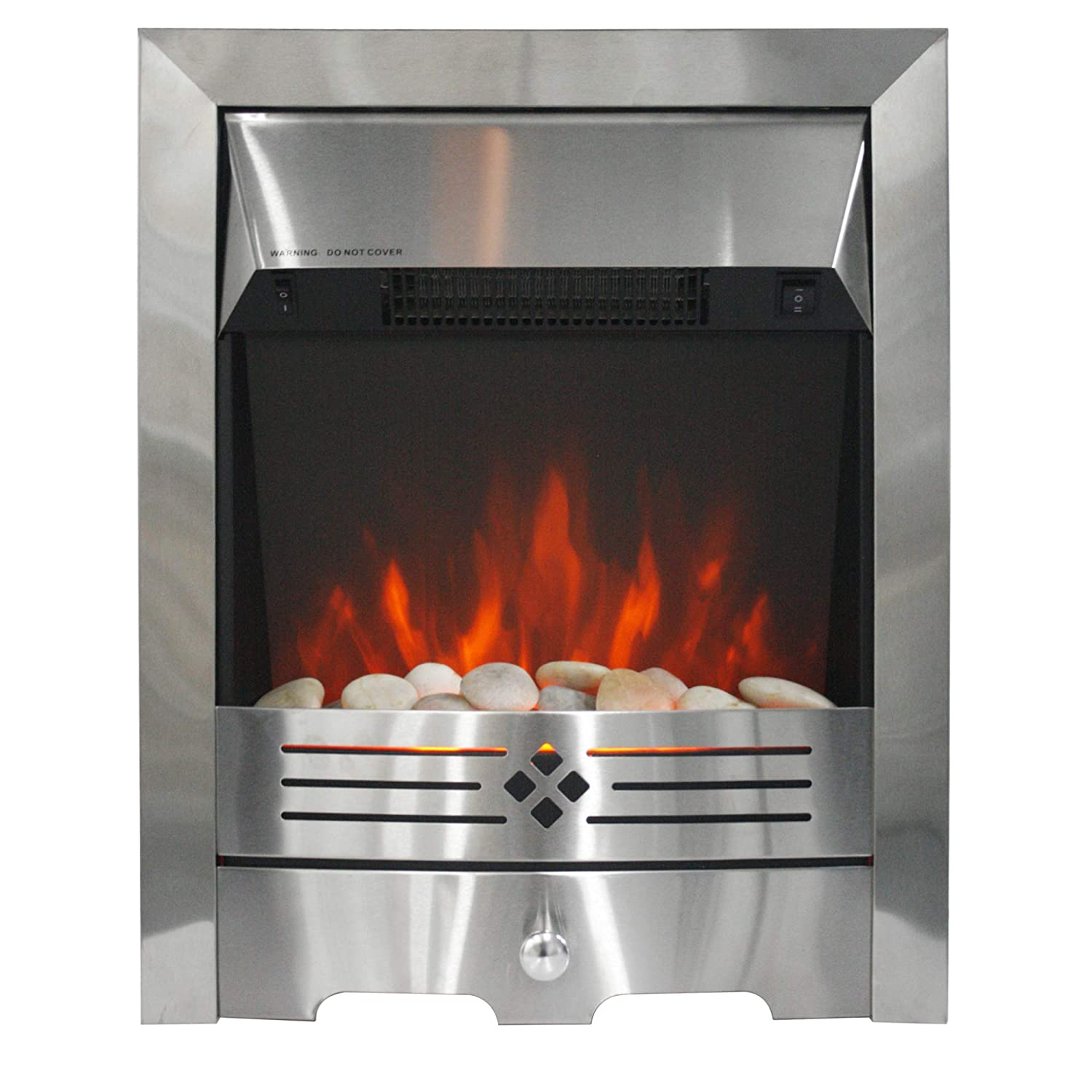 MODERN LIFE LED Light Complete Electric Fireplace Heating 2000W Indoor Heater Coal Burning Flame Effect