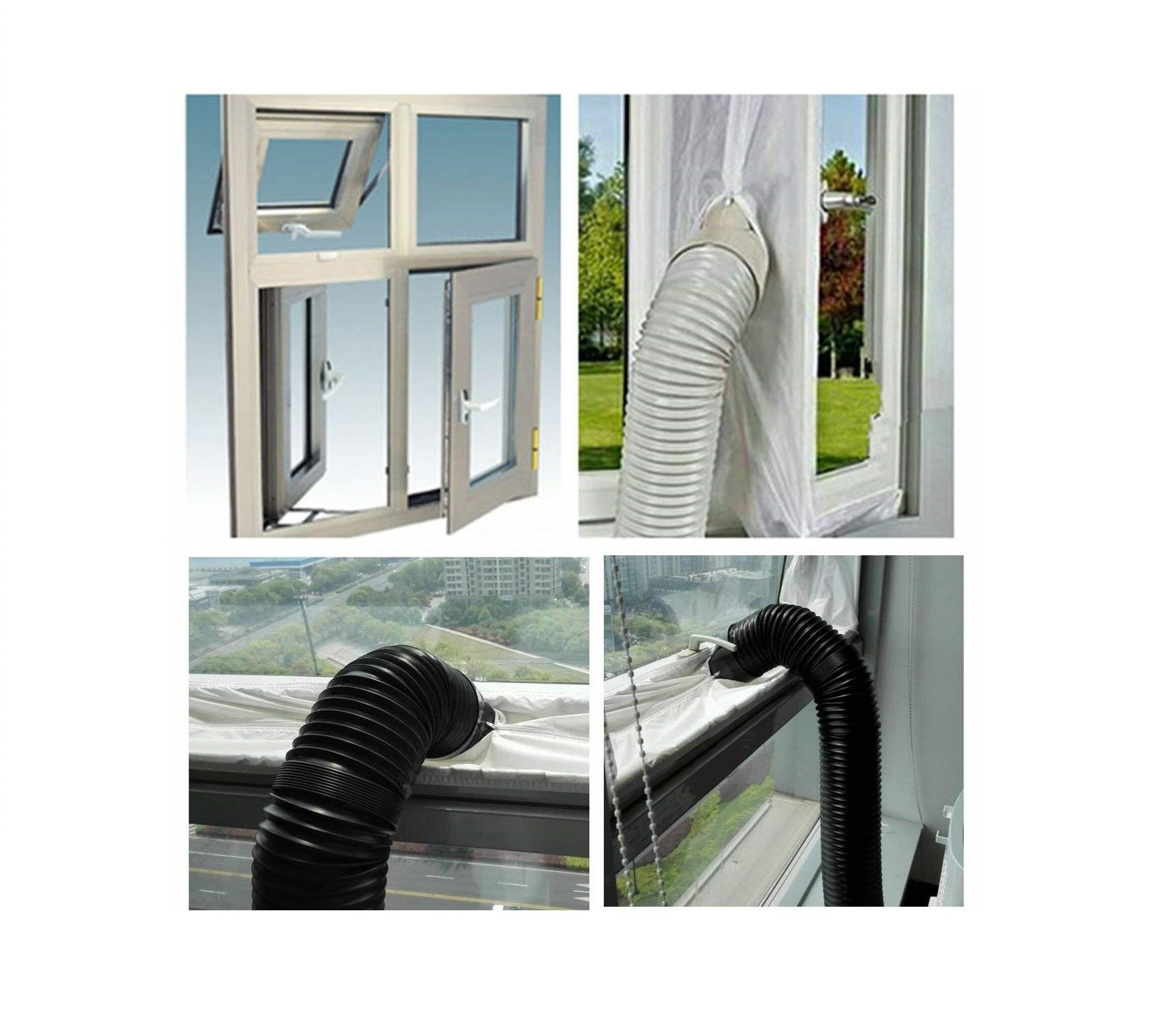 Aimyoo AirLock Window Door Seal - Soft Cloth Sealing Baffle for Mobile Air-Conditioning Units Mobile Air Conditioning