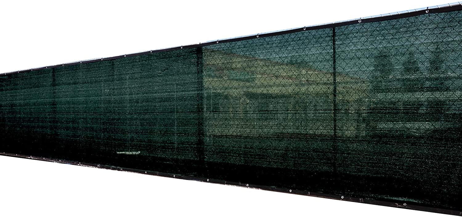 Heavy Duty 3 Years Warranty ColourTree 2nd Generation 4 x 50 Black Fence Privacy Screen Windscreen Cover Fabric Shade Tarp Netting Mesh Cloth CUSTOM SIZE AVAILABLE Commercial Grade 170 GSM