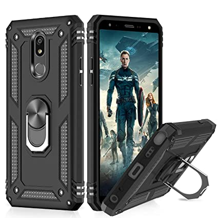 LeYi LG Stylo 5 Case,LG Stylo 5 Phone Case, [Military Grade] Magnetic Car  Ring Holder Mount Kickstand Cover Phone Case for LG Stylo 5, JSFS Black