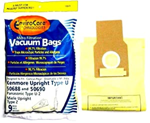 12 KENMORE UPRIGHT 50688 & 50690 MICROFILTRATION VACUUM SWEEPER BAGS