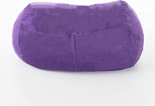 Christopher Knight Home Cassell Purple Fabric 4-Foot Lounge Beanbag Chair