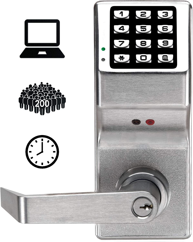 Alarm Lock DL2800 US26D Trilogy Digital Lock Cylindrical 26D, Satin Chrome